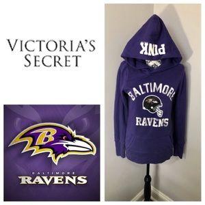 VIctoria's Secret Pink Baltimore Ravens Hoodie